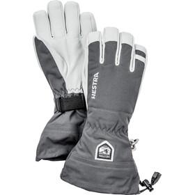 Hestra Army Leather Heli Ski Handsker, grå/hvid